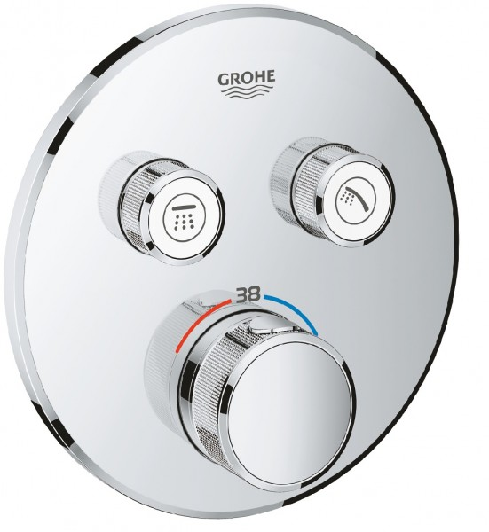 Grohe Grohtherm Smartcontrol Thermostat, 2 Absperrventile chrom